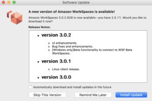Amazon WorkSpaces update